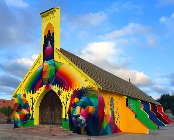 kerk-street-art-marokko-2