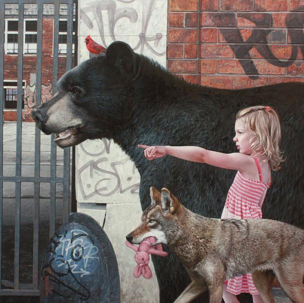 hyperrealistische-schilderijen-kinderen-dieren-2