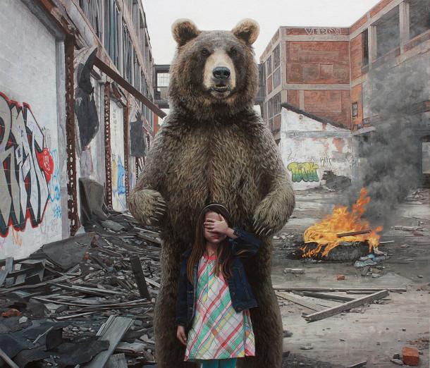 hyperrealistische-schilderijen-kinderen-dieren-3