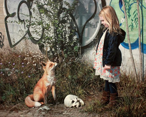 hyperrealistische-schilderijen-kinderen-dieren-4
