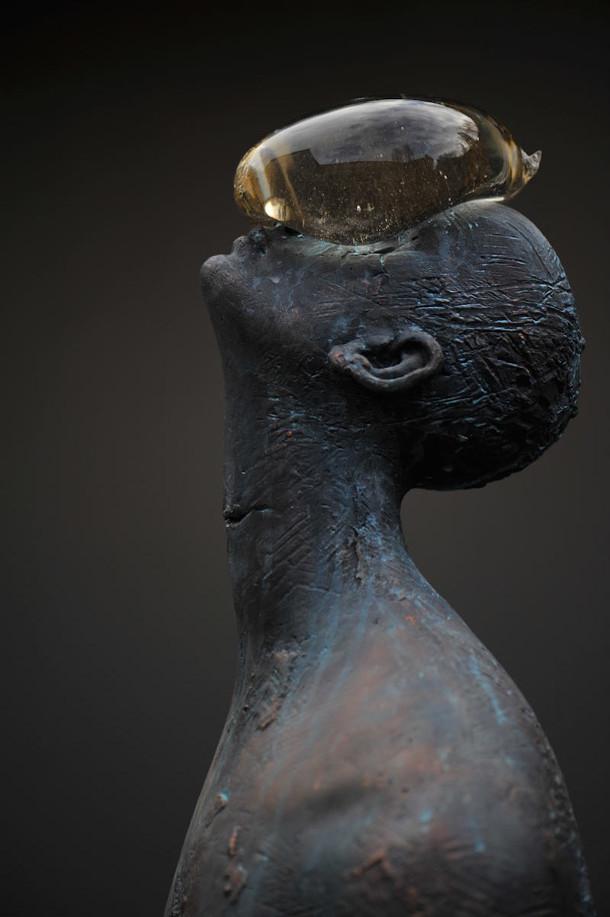 regendruppel-glas-brons-sculptuur-6